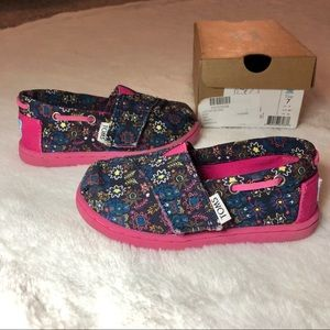 Toms Navy Multi  Forest Floral Bimini Toddler 7